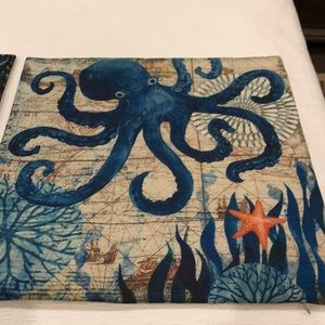 Crab and octopus pillow covers